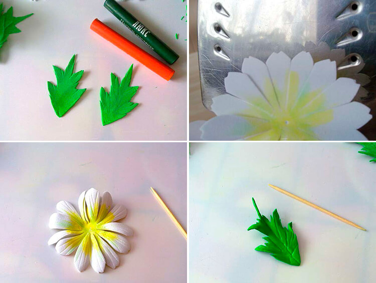 Делаем цветок ромашка своими руками из различных материалов 91 94 1