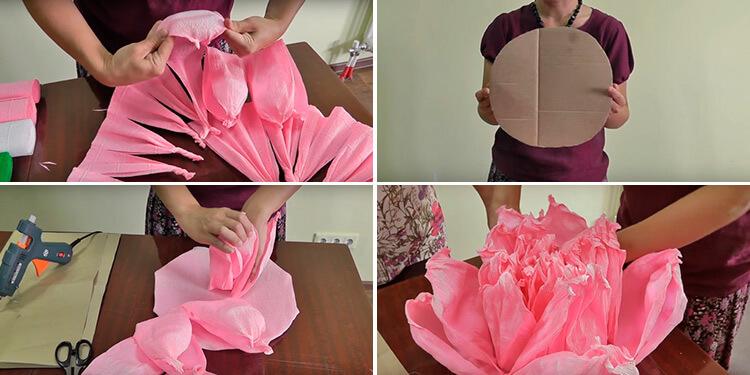 Пион своими руками: как сделать цветок различными способами 91 94 2