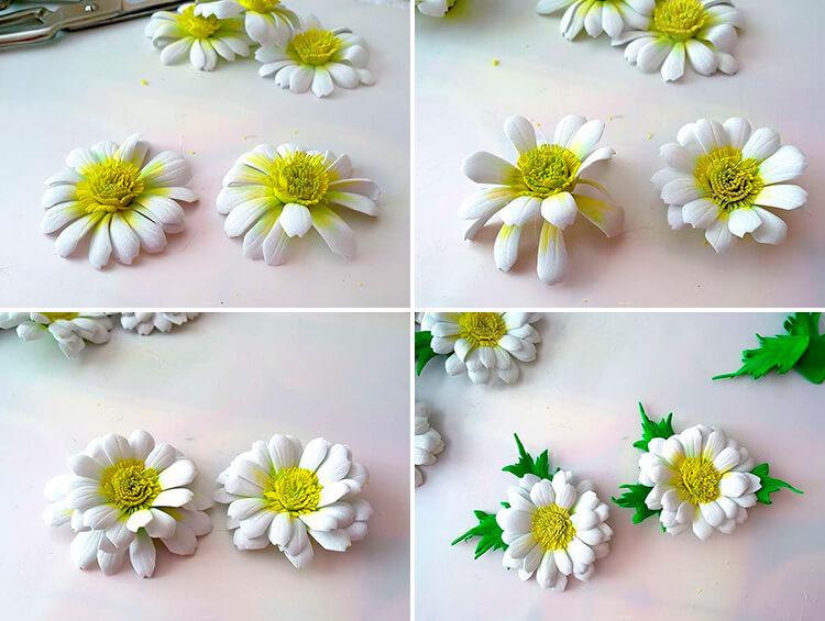Делаем цветок ромашка своими руками из различных материалов 99 102 1