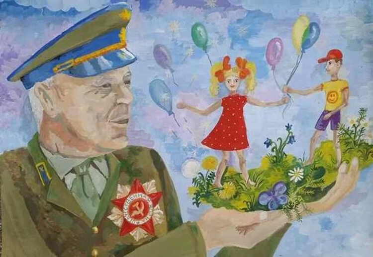 Детские рисунки на 9 мая в школу и садик detskie risunki ko dnyu pobedy 107