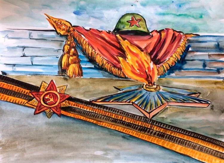 Детские рисунки на 9 мая в школу и садик detskie risunki ko dnyu pobedy 108