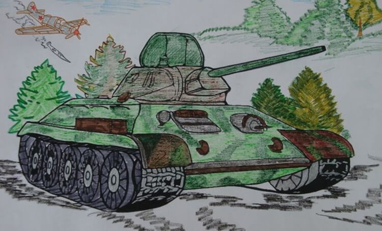 Детские рисунки на 9 мая в школу и садик detskie risunki ko dnyu pobedy 109