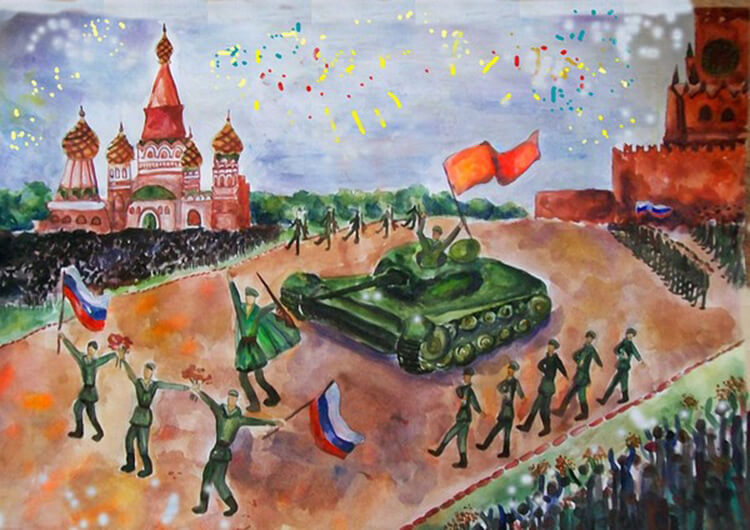 Детские рисунки на 9 мая в школу и садик detskie risunki ko dnyu pobedy 111