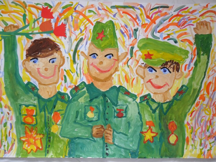 Детские рисунки на 9 мая в школу и садик detskie risunki ko dnyu pobedy 114