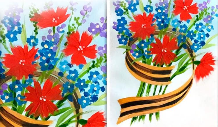Детские рисунки на 9 мая в школу и садик detskie risunki ko dnyu pobedy 115