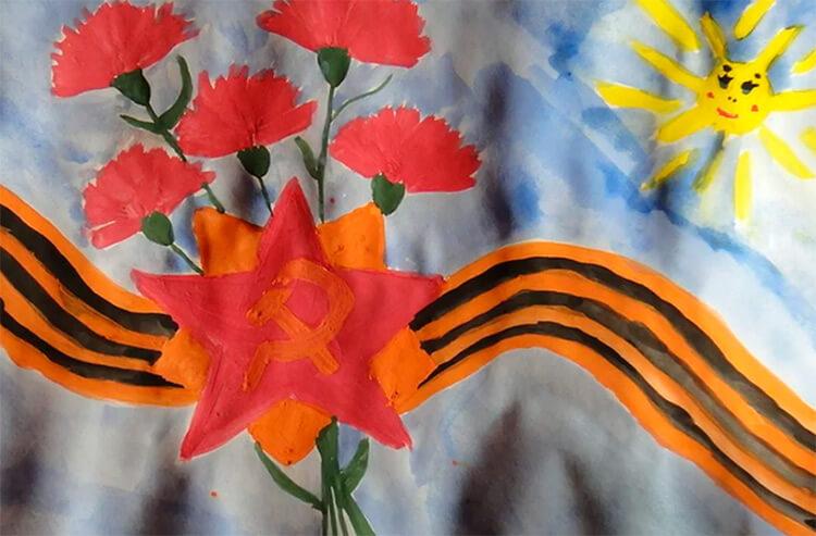 Детские рисунки на 9 мая в школу и садик detskie risunki ko dnyu pobedy 119