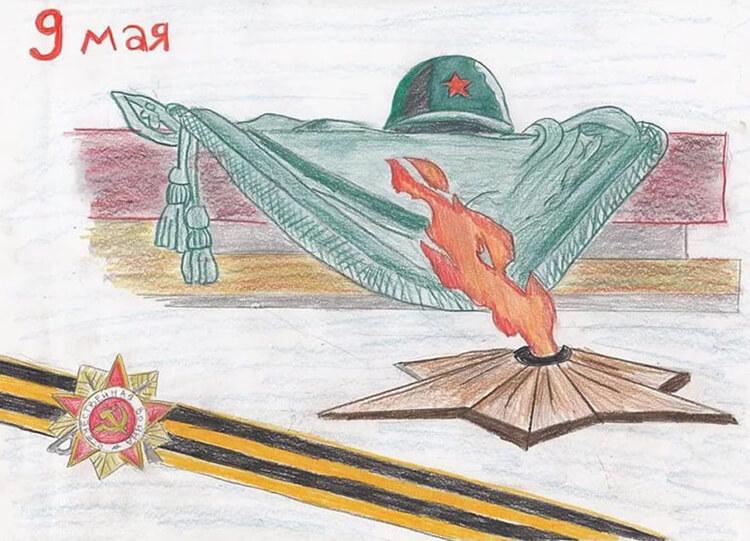Детские рисунки на 9 мая в школу и садик detskie risunki ko dnyu pobedy 14