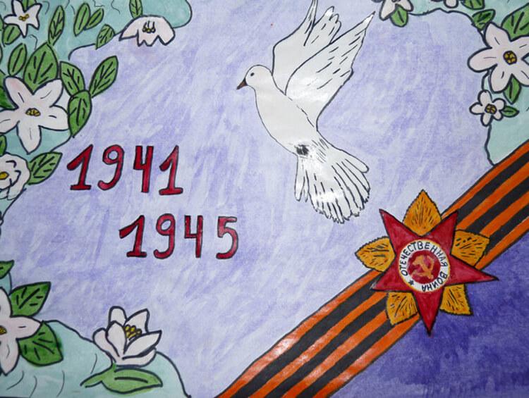 Детские рисунки на 9 мая в школу и садик detskie risunki ko dnyu pobedy 24