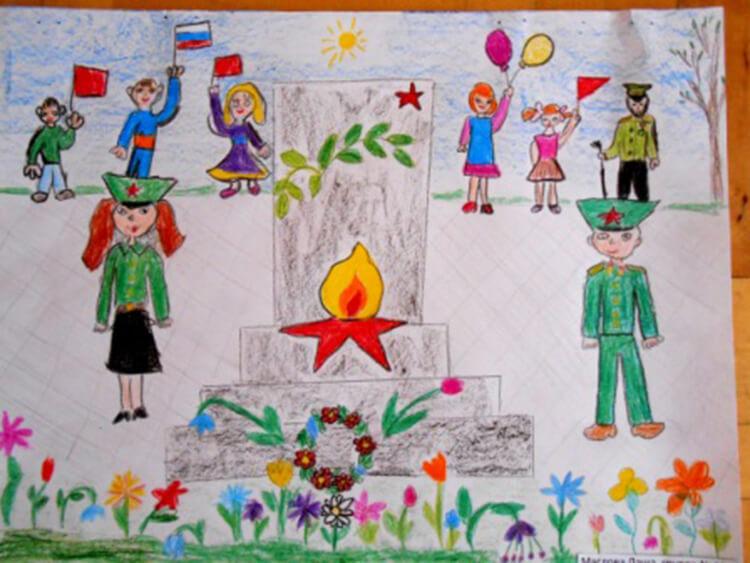 Детские рисунки на 9 мая в школу и садик detskie risunki ko dnyu pobedy 30