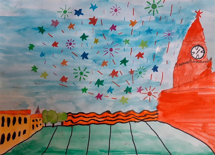 Детские рисунки на 9 мая в школу и садик detskie risunki ko dnyu pobedy 32 2