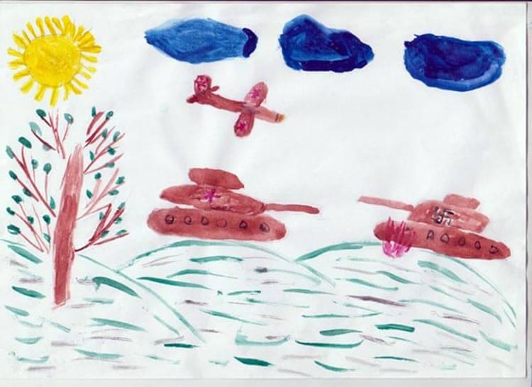 Детские рисунки на 9 мая в школу и садик detskie risunki ko dnyu pobedy 33
