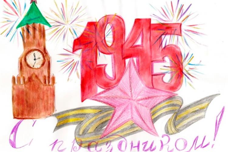 Детские рисунки на 9 мая в школу и садик detskie risunki ko dnyu pobedy 48