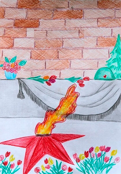 Детские рисунки на 9 мая в школу и садик detskie risunki ko dnyu pobedy 51