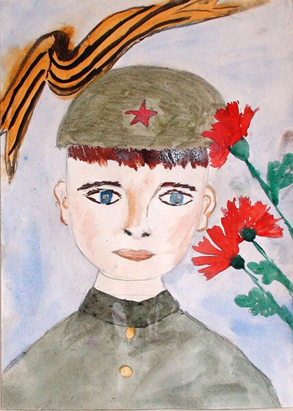 Детские рисунки на 9 мая в школу и садик detskie risunki ko dnyu pobedy 54