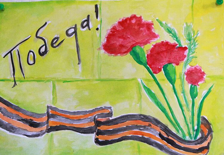 Детские рисунки на 9 мая в школу и садик detskie risunki ko dnyu pobedy 57