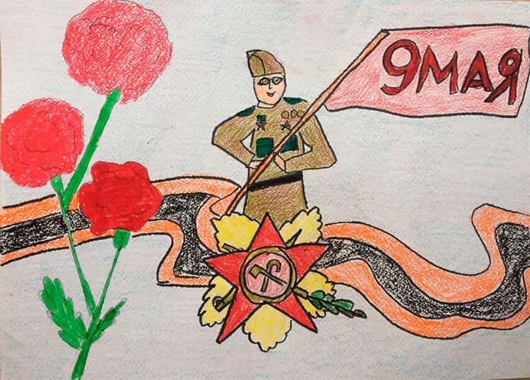 Детские рисунки на 9 мая в школу и садик detskie risunki ko dnyu pobedy 58