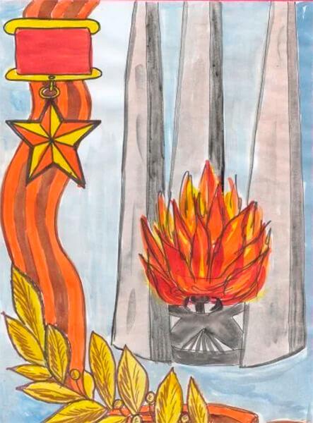 Детские рисунки на 9 мая в школу и садик detskie risunki ko dnyu pobedy 69