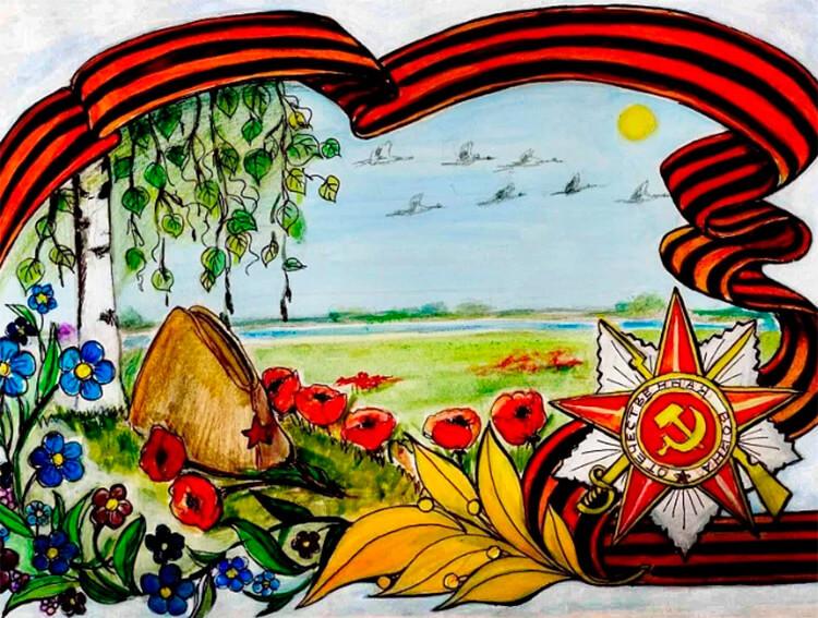 Детские рисунки на 9 мая в школу и садик detskie risunki ko dnyu pobedy 73