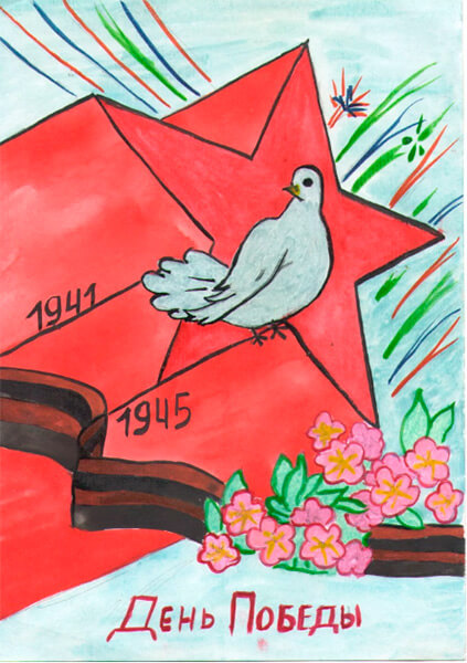Детские рисунки на 9 мая в школу и садик detskie risunki ko dnyu pobedy 77