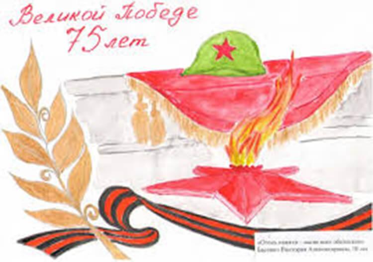 Детские рисунки на 9 мая в школу и садик detskie risunki ko dnyu pobedy 79