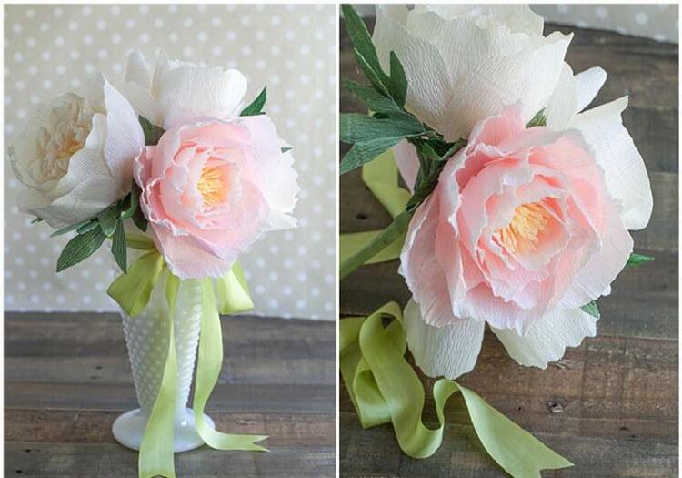 Пион своими руками: как сделать цветок различными способами kak sdelat piony svoimi rukami 12