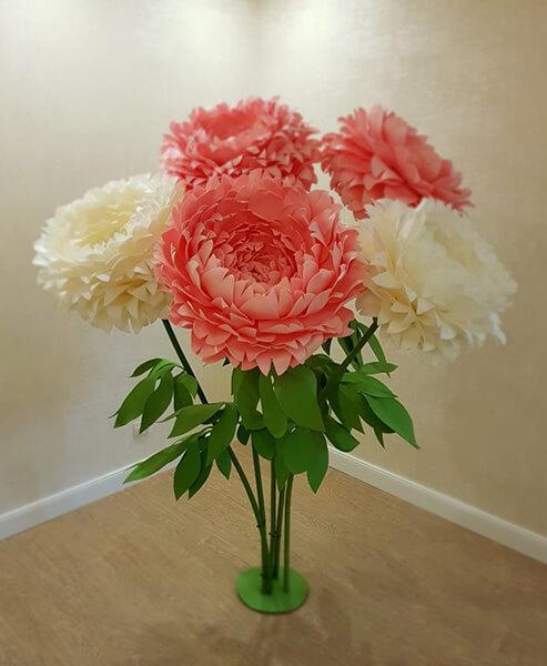 Пион своими руками: как сделать цветок различными способами kak sdelat piony svoimi rukami 121