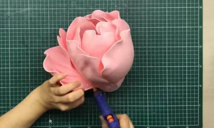 Пион своими руками: как сделать цветок различными способами kak sdelat piony svoimi rukami 136