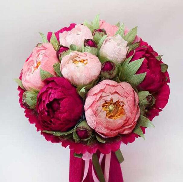 Пион своими руками: как сделать цветок различными способами kak sdelat piony svoimi rukami 54