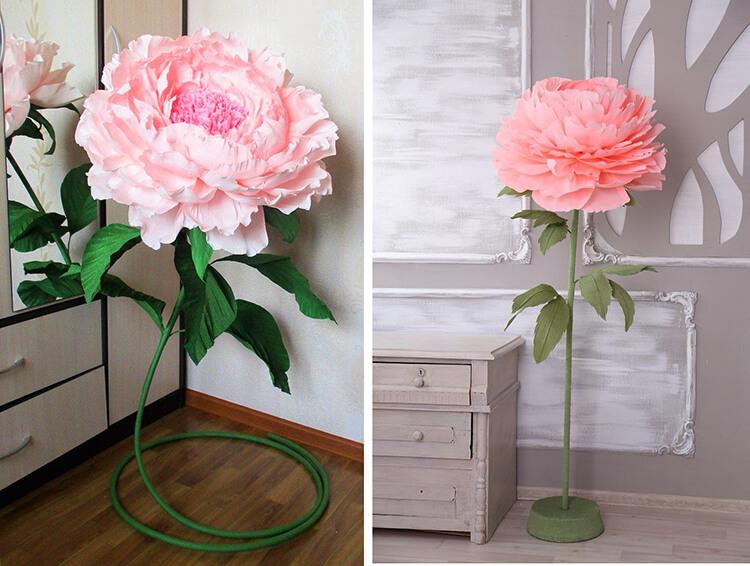 Пион своими руками: как сделать цветок различными способами kak sdelat piony svoimi rukami 81