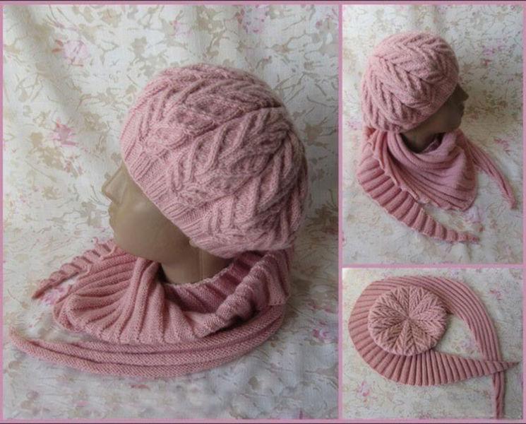 Женский берет спицами: как связать спицами модный головной убор kak svyazat spicami beret 11