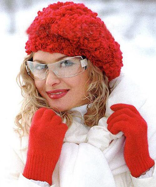 Женский берет спицами: как связать спицами модный головной убор kak svyazat spicami beret 13