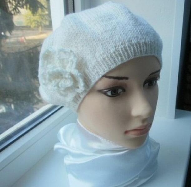 Женский берет спицами: как связать спицами модный головной убор kak svyazat spicami beret 28
