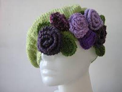 Женский берет спицами: как связать спицами модный головной убор kak svyazat spicami beret 29