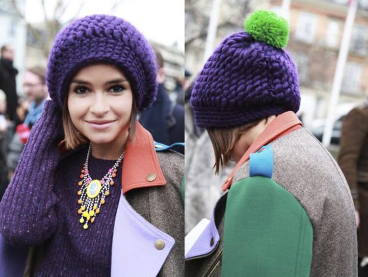 Женский берет спицами: как связать спицами модный головной убор kak svyazat spicami beret 3