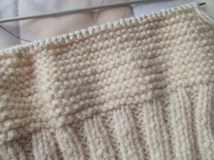 Женский берет спицами: как связать спицами модный головной убор kak svyazat spicami beret 35