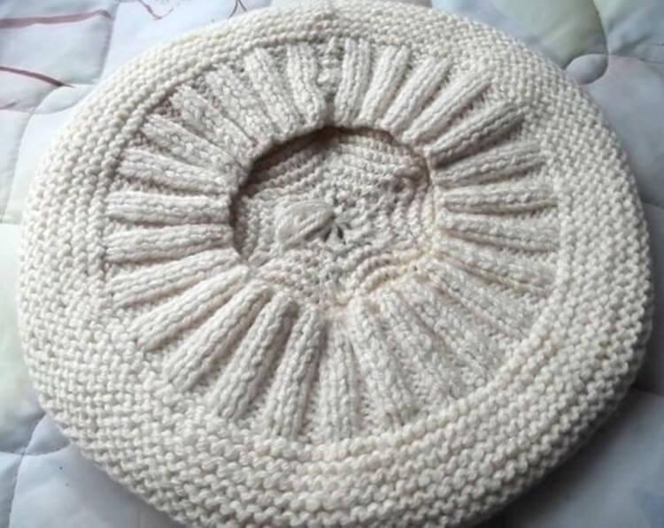 Женский берет спицами: как связать спицами модный головной убор kak svyazat spicami beret 38