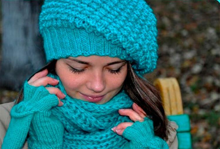Женский берет спицами: как связать спицами модный головной убор kak svyazat spicami beret 39