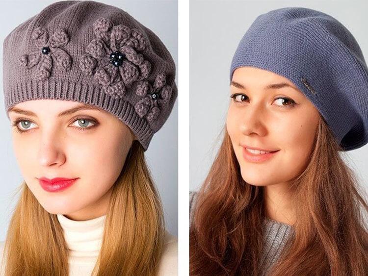 Женский берет спицами: как связать спицами модный головной убор kak svyazat spicami beret 4