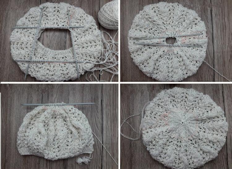 Женский берет спицами: как связать спицами модный головной убор kak svyazat spicami beret 42