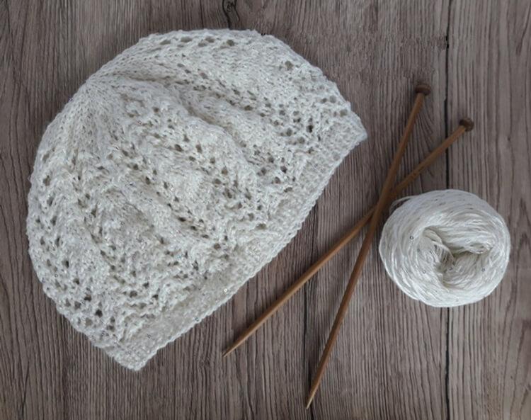 Женский берет спицами: как связать спицами модный головной убор kak svyazat spicami beret 44