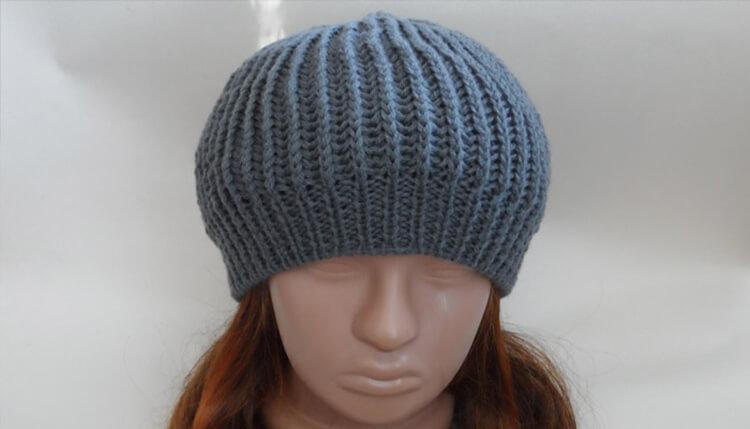 Женский берет спицами: как связать спицами модный головной убор kak svyazat spicami beret 45