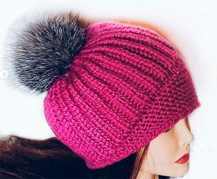 Женский берет спицами: как связать спицами модный головной убор kak svyazat spicami beret 47