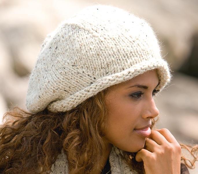 Женский берет спицами: как связать спицами модный головной убор kak svyazat spicami beret 48