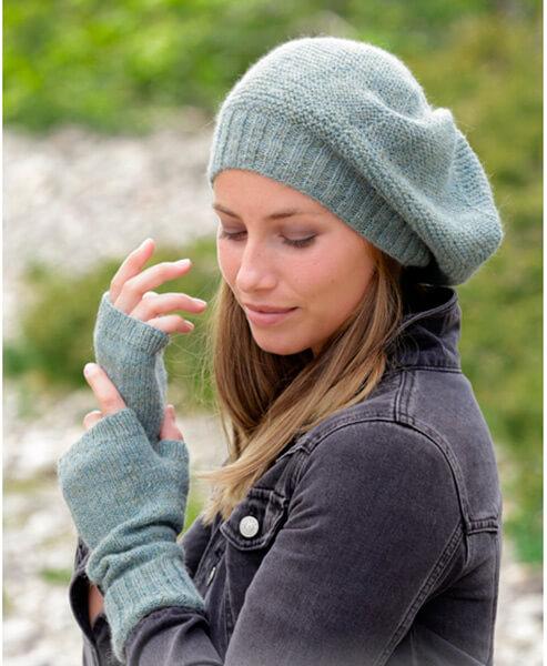 Женский берет спицами: как связать спицами модный головной убор kak svyazat spicami beret 5