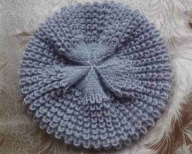 Женский берет спицами: как связать спицами модный головной убор kak svyazat spicami beret 58