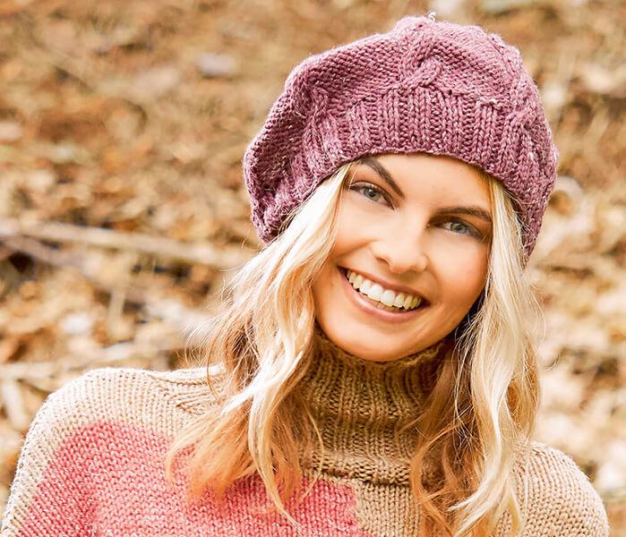 Женский берет спицами: как связать спицами модный головной убор kak svyazat spicami beret 6