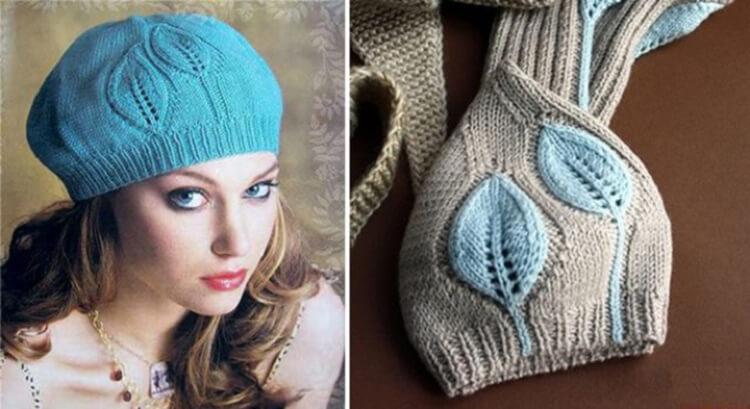 Женский берет спицами: как связать спицами модный головной убор kak svyazat spicami beret 8