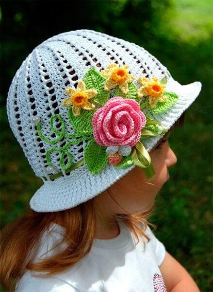 Красивая детская панамка на лето: как связать крючком panamka kryuchkom 5