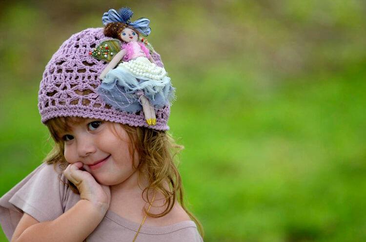 Красивая детская панамка на лето: как связать крючком panamka kryuchkom 61