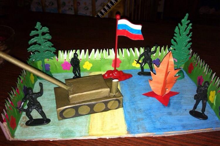 Детские поделки на 9 мая: что можно сделать на день победы podelki na 9 maya svoimi rukami 162